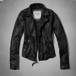 Abercrombie Faux Leather Biker Jacket